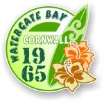 Cornwall Watergate Bay 1965 Surfer Surfing Design Vinyl Car sticker decal 97x95mm